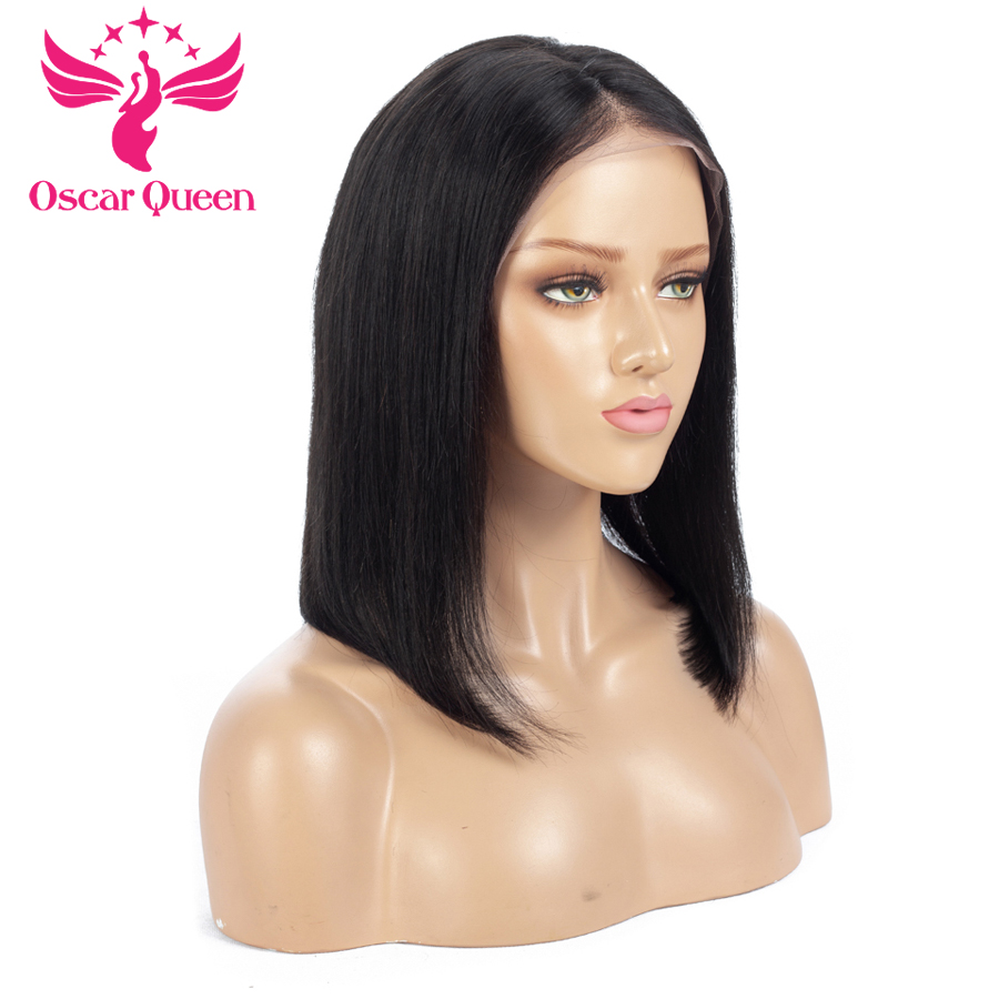 Malaysian Virgin Hair Straight Full Lace Wigs With Baby Hair Short Human Hair Bob Full Lace Human Hair Wigs For Black Women
