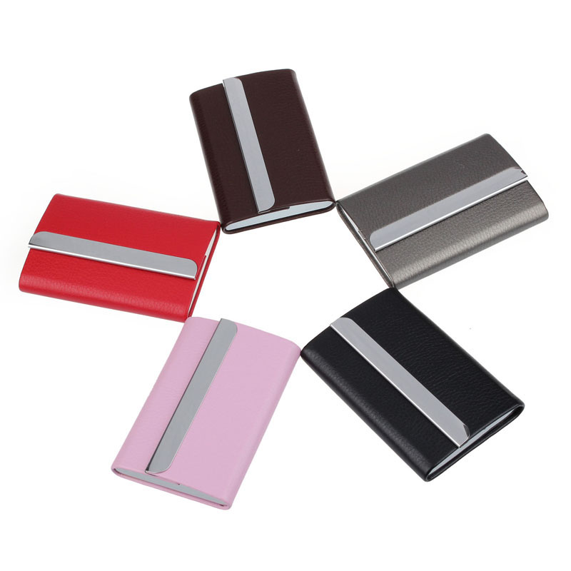 Women Men magic Business Name Superior Quality ID Credit Card Protector Leather Wallet Card Holder Package Box A#dropship