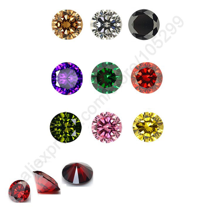 JEXXI Discount 100PCS 8MM Bridal Jewellery Findings AAAAA Round Cubic Zirconia CZ Stone Beadings Components Jewelry Discount