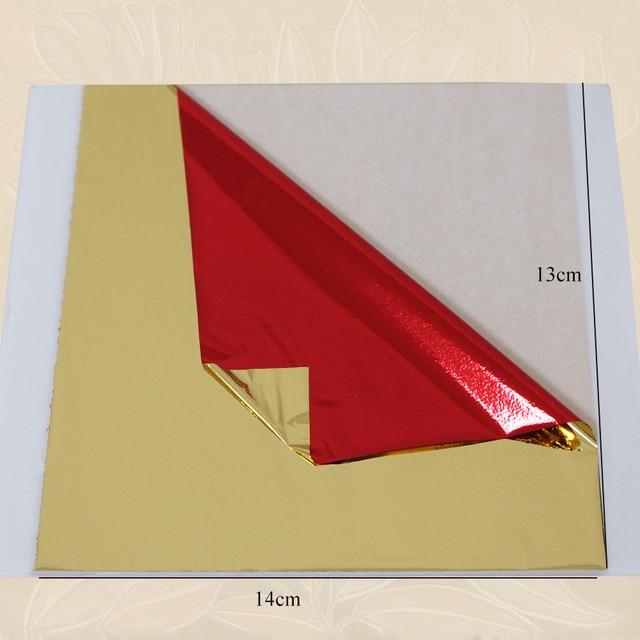 100 PCS gold red leaf, imitation gold foil, alloy foil, wall, crafts ...