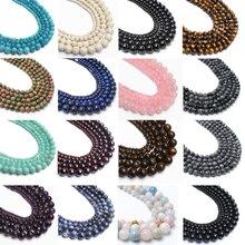 Wholesale Natural Stone Garnet Turquoises Lapis Lazuli Round Beads for Jewelry Making DIY Bracelet 4 6 8 10 12 MM Pick Size 15'' lapis lazuli round 16 mm leopard clasp necklace 18 nature wholesale beads