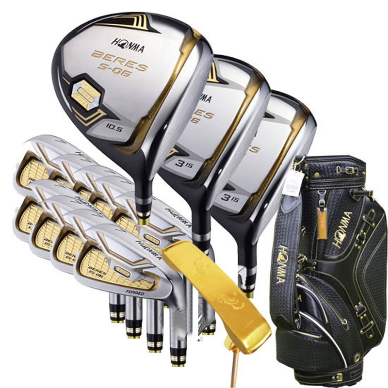 New Golf club HONMA S-06 3 star Golf complete clubs Driver+fairway wood+irons+putter+bag graphite shaft cover freeshipping 1