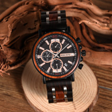 Newest Design BOBO BIRD Men's Gift Watch(China)