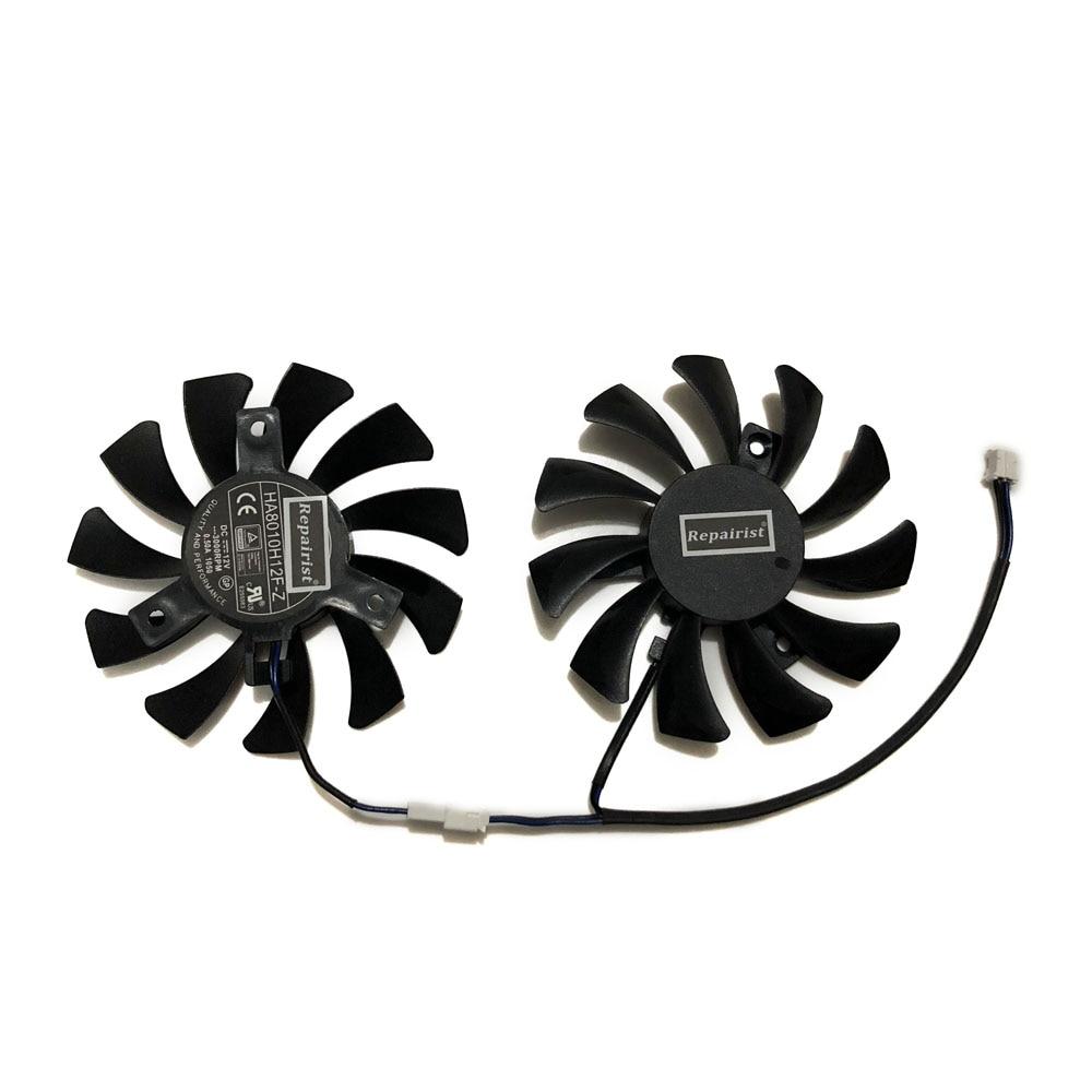 2pcs/set 75MM 40MM 2Pin GTX750 N750 GPU Cooler Graphics Card Fan For MSI N750Ti-2GD5TOCV1 N750Ti-2GD5OC VGA Card Cooling alseye vga cooler clearance aluminum heatsink graphics card fan dc 12v 2pin 6000rpm cooling fan for fx1000 fx5600