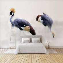 Custom wallpaper ostrich flamingo mural living room TV background wall family art high-grade waterproof material