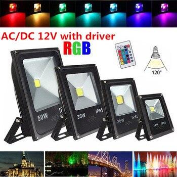 AC12V/DC12V 10 Wát 20 Wát 30 Wát 50 Wát RGB led flood light LED đèn chiếu ngoài trời đèn RGB cool lạnh Ấm trắng