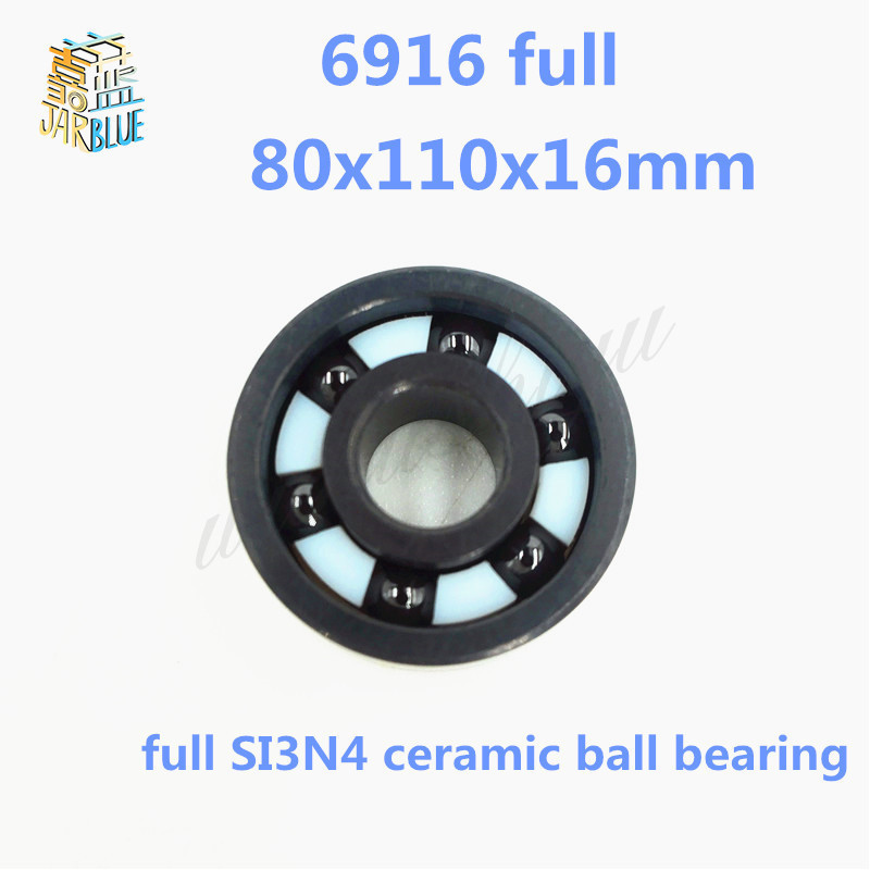 купить Free shipping high quality 6916 full SI3N4 ceramic deep groove ball bearing 80x110x16mm по цене 17072.81 рублей