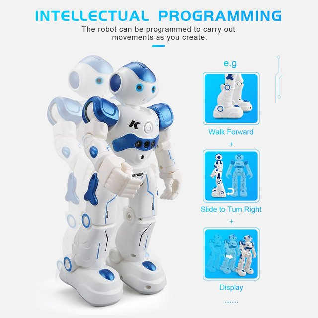 LEORY RC Robot Intelligent Programming Remote Control Robotica Toy Biped Humanoid Robot For Children Kids Birthday Gift Present 1