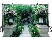 7x5ft Green Backdrop Lush Greenery Trail Photography Backgroud and Studio Props