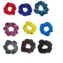 Velvet Scrunchies 9pcs Hair Ring Simple Hair Accessories Headbands Bobbles Heads High Velvet Scrunchies Hair band Dropshipping(China)
