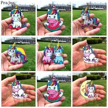Prajna Unicorn Iron On Patches Magic Rainbow Applique Embroidered For Clothing Accessories Kids T-shirt DIY