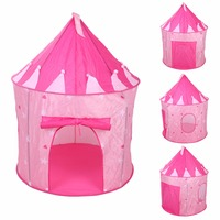 Pop Up Play Tent Kids Girl Princess Castle Outdoor House Tent Portable Pink Children Gifts Free