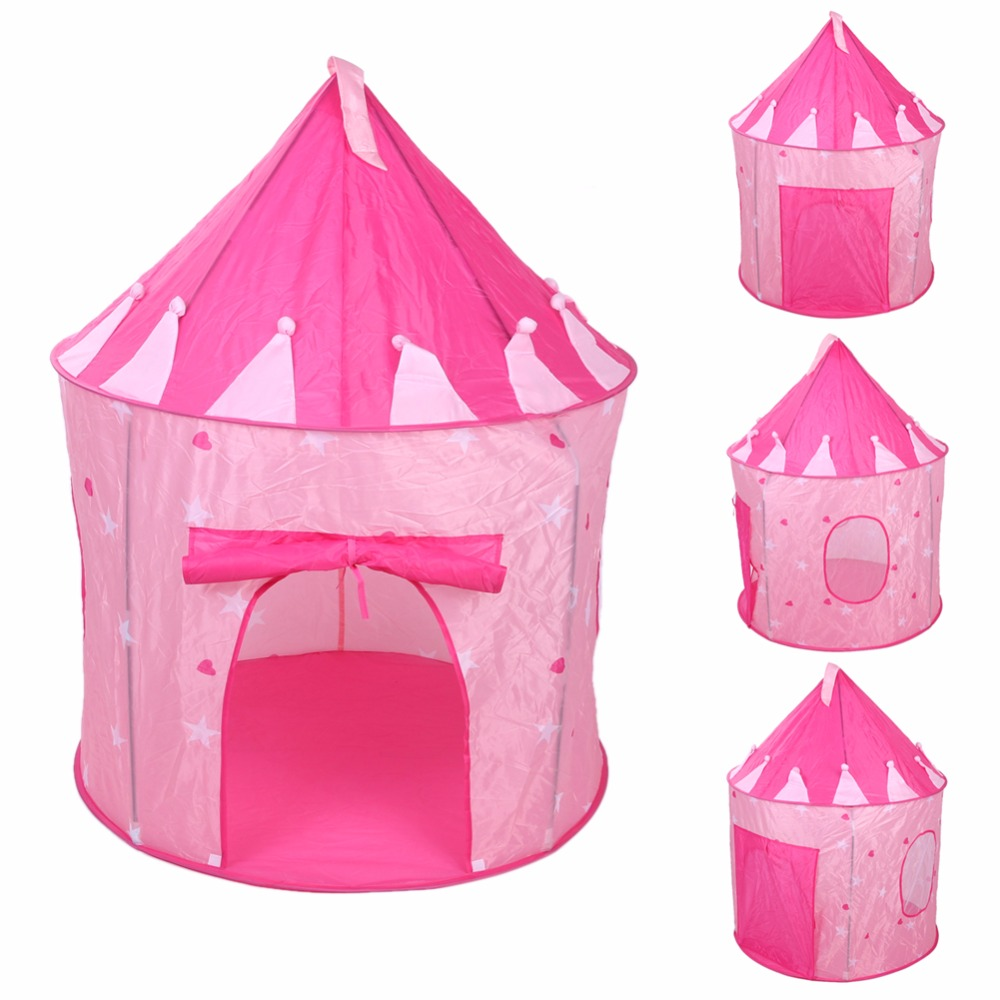 Newest Pop Up Play Tent Kids Girl Princess Castle Outdoor House Tent Portable Pink Children Gifts High Quality Toy Tents