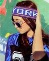 5801 НЬЮ-ЙОРК Корейской версии женская мода шапки вязаные шляпы Весна лето осень хлопок волос группа 1 ШТ. БЕСПЛАТНАЯ ДОСТАВКА