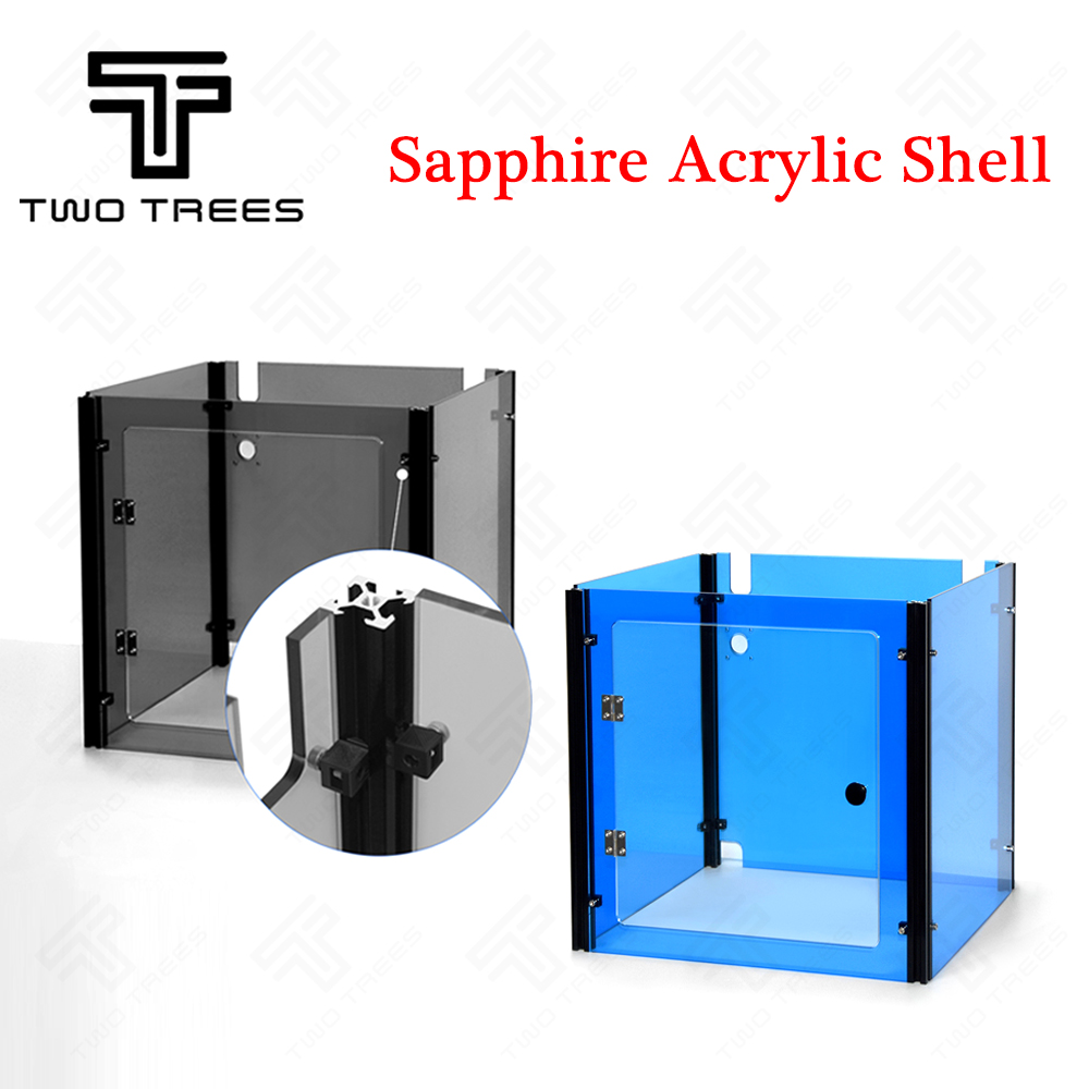 3D Sapphire Printer parts Acrylic Case Transparent Black Transparent Blue acrylic House Auto Sheel Acrylic