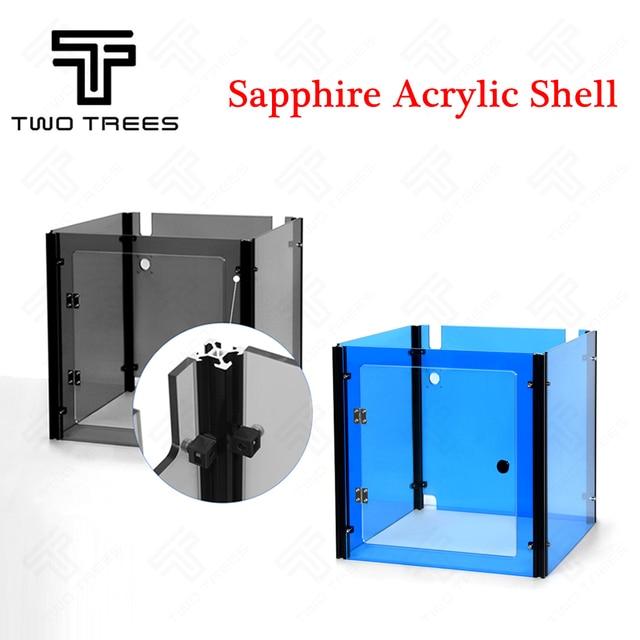 3D ספיר מדפסת חלקי אקריליק מקרה, שקוף שחור שקוף כחול אקריליק בית אוטומטי Sheel אקריליק