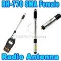 Buena calidad SMA-Hembra Antena de Doble Banda 144 MHz/430 MHz Antena de Radio Telescópica de Mano para BAOFENG Wouxun/Kenwood etc