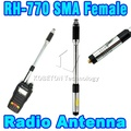 Good-quality SMA-Female RH770 Dual Band Antenna 144MHz/430MHz Handheld Telescopic Radio Antenna for BAOFENG Wouxun/Kenwood etc