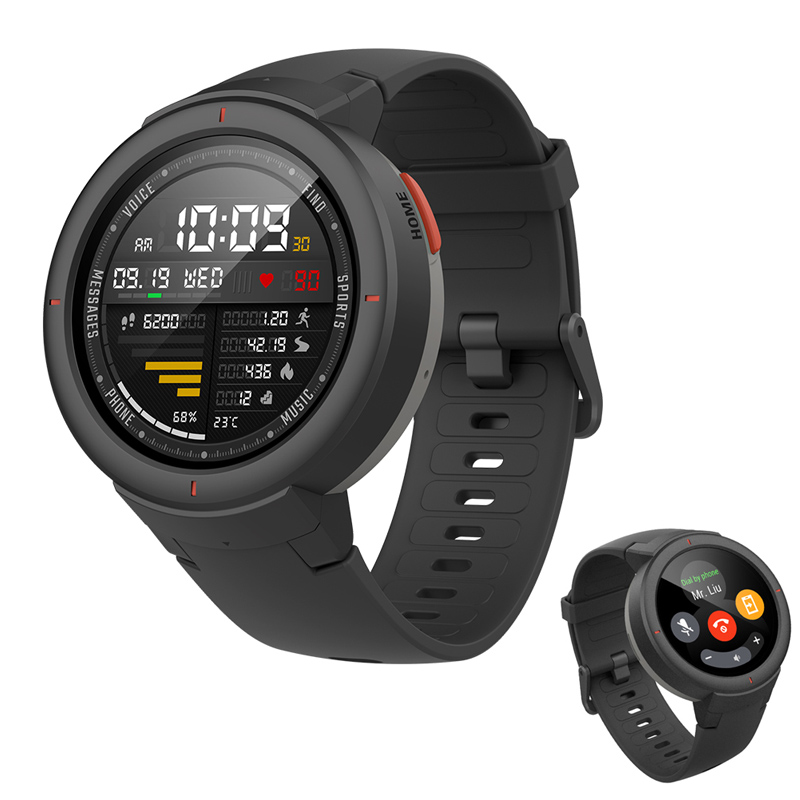 Amazfit Verge English Version Smartwatch 1 3 inch AMOLED Screen Dial Answer Calls Upgraded HR Sensor