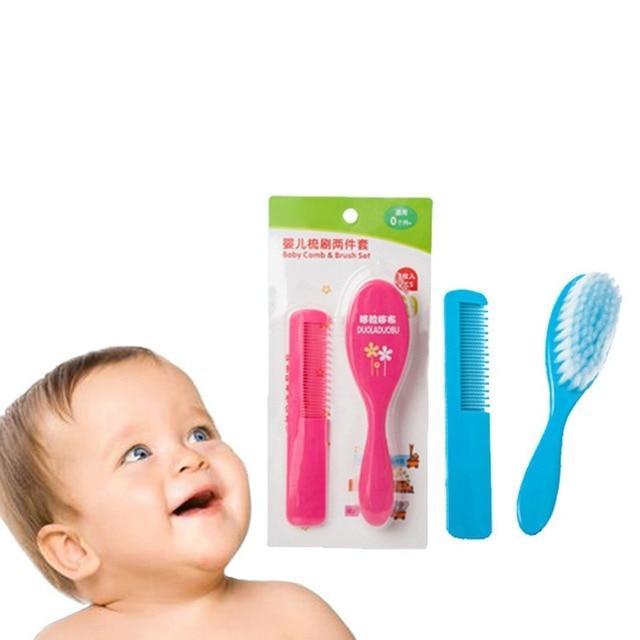 469a234f5 2PCS Newborn Baby Hair Brush Baby Care Baby Brush Comb Hair Brush ...