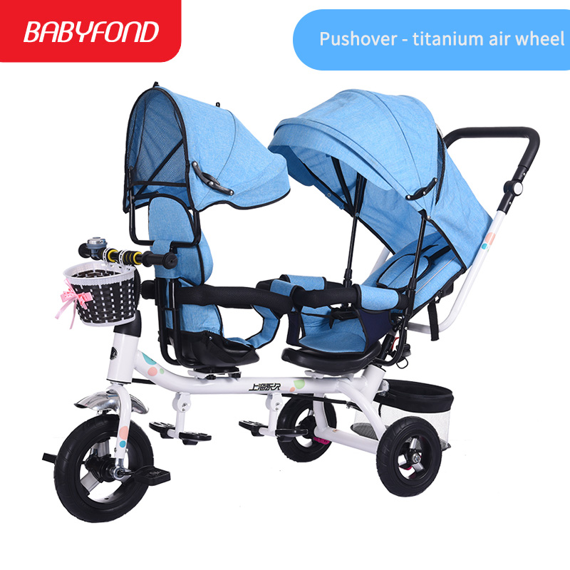 Childrens tricycles twins stroller 1-3 year old baby stroller child bike armrest adjustable baby hand inflatable carts brand Childrens tricycles twins stroller 1-3 year old baby stroller child bike armrest adjustable baby hand inflatable carts brand