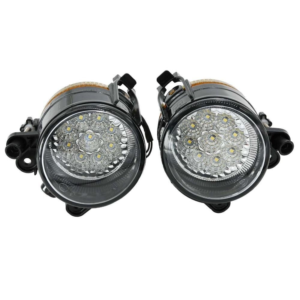 2Pcs For VW Golf V MK5 2004 2005 2006 2007 2008 2009 High Quality 9 LED Front Fog Lamp Fog Light куплю golf 2 1986 г в дизель