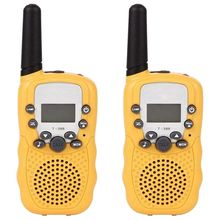все цены на Walkie Talkies 8 Channel 2 Way Radio Kids Toys Wireless 0.5W Long Distance Range Walkie Talkie for Field Survival Biking and H онлайн