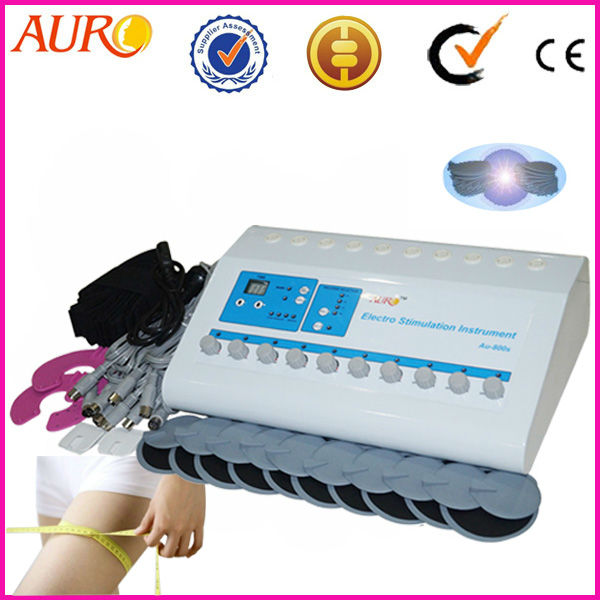 Free Shipping + 100% guarantee!!! 2016 EMS Electrodes Electro Machine with Electronic Muscle Stimulation Equipment for Portable