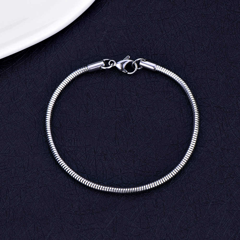 Hot Sale 316L Stainless Steel 3MM 4MM Snake Chain Bracelet Fashion Jewelry for Men and Women Christmas Gifts pulseras