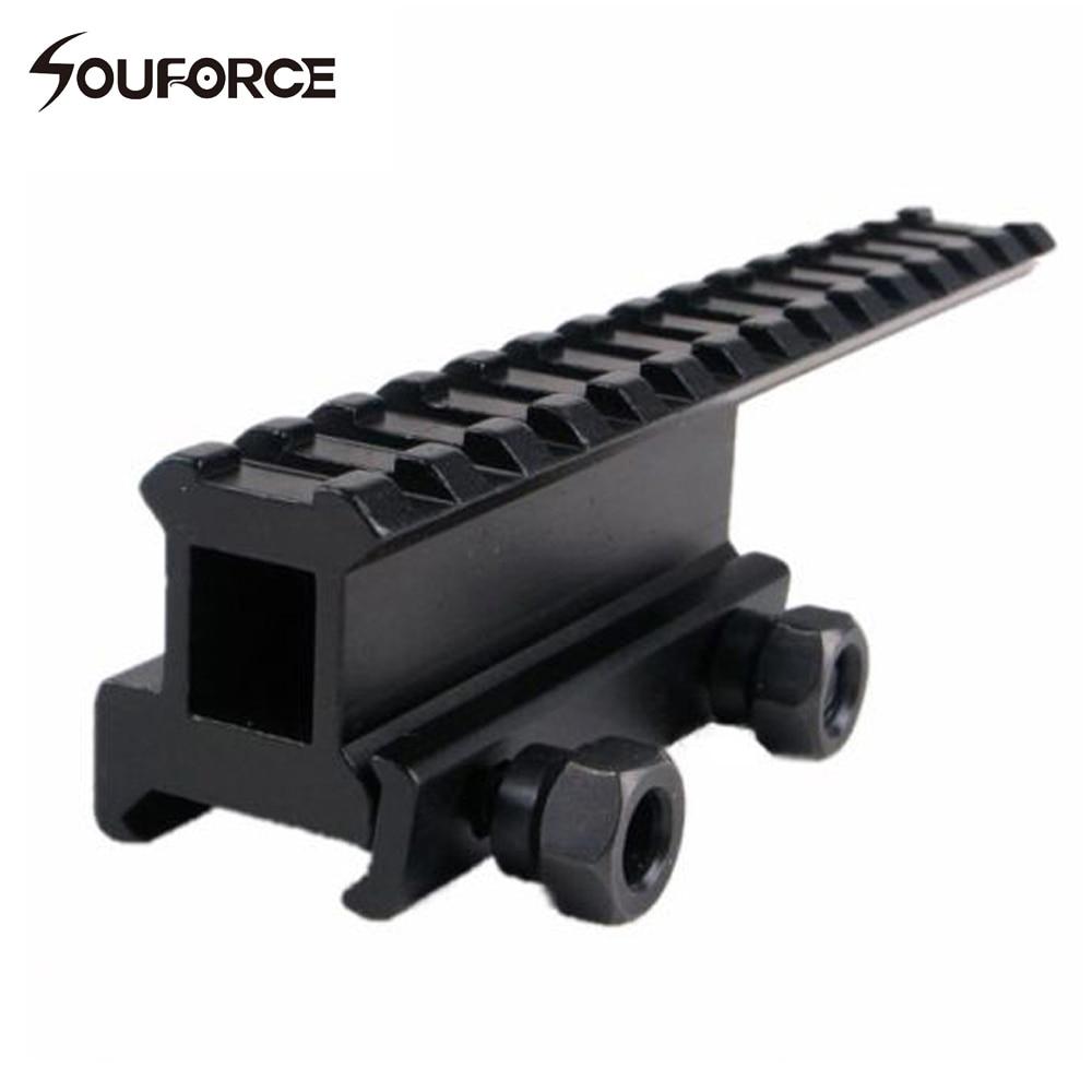 Удлинительный рельсовый переходник для 20 мм Пикатинни/Вивера для оптических приборов страйкбольной тактической охоты