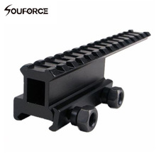 Taktisk forlængelseskinne Mount High Riser Base Converter til 20mm Picatinny / Weaver Rail til Riflescopes Airsoft Guns
