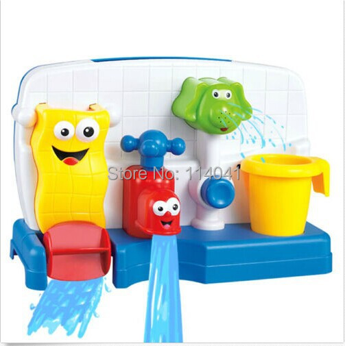 Kids Bath Time Waterwheel With Tap And Elephant Shape Shower Head Toy Baby Water Play In From Toys Hobbies On Aliexpress