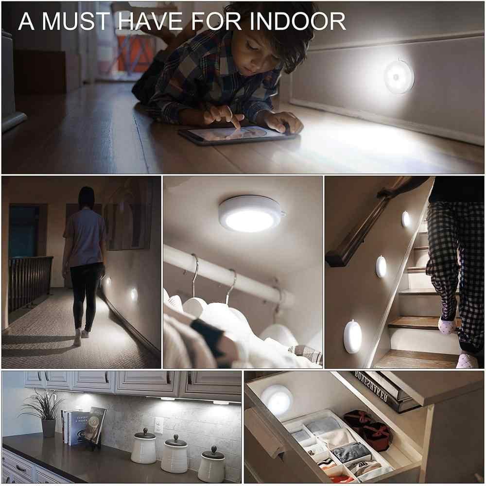 Magiclux обновленный светодиодный светильник с датчиком движения, Ночной светильник, на магните, для спальни, кухни, ванной комнаты, шкафа, шкаф, светильник s