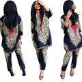 2017 New Summer Women sexy Bohemian  Africa Print Indian Style Two piece set Jumpsuits