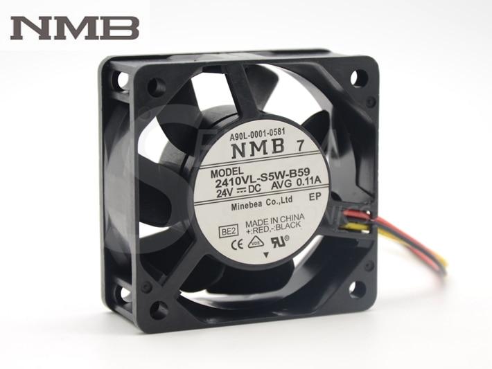 NMB A90L-0001-0581 2410VL-S5W-B59 6025 case cooling fan 60*60*25mm DC 24V AVG 0.11A вентилятор напольный aeg vl 5569 s lb 80 вт