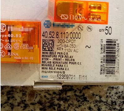 все цены на Free Shipping 2pcs/LOT 40.52.8.110.0000 40.52 110VAC Original Italy Relay
