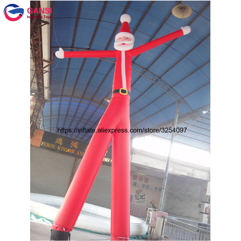 Advertising inflatable santa sky dancer 6m height Oxford cloth durable inflatable sky dancer tube man with two legs for outdoor