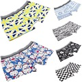 19 Color Men Sexy Underwear Boxers Cartoon Printed Milk Ice Men Breathable Shorts Plus Size L,XL,XXL