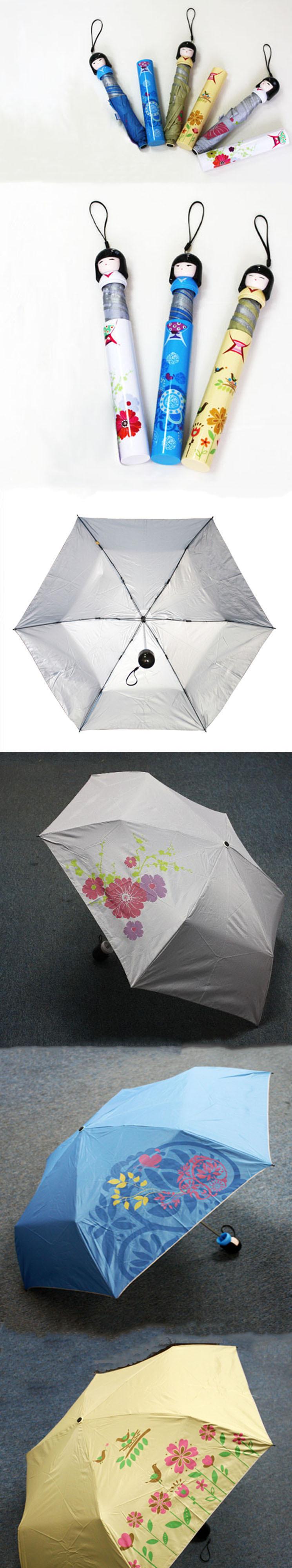 Más muestras paraguas diseño muñeca japonesa Kokeshi