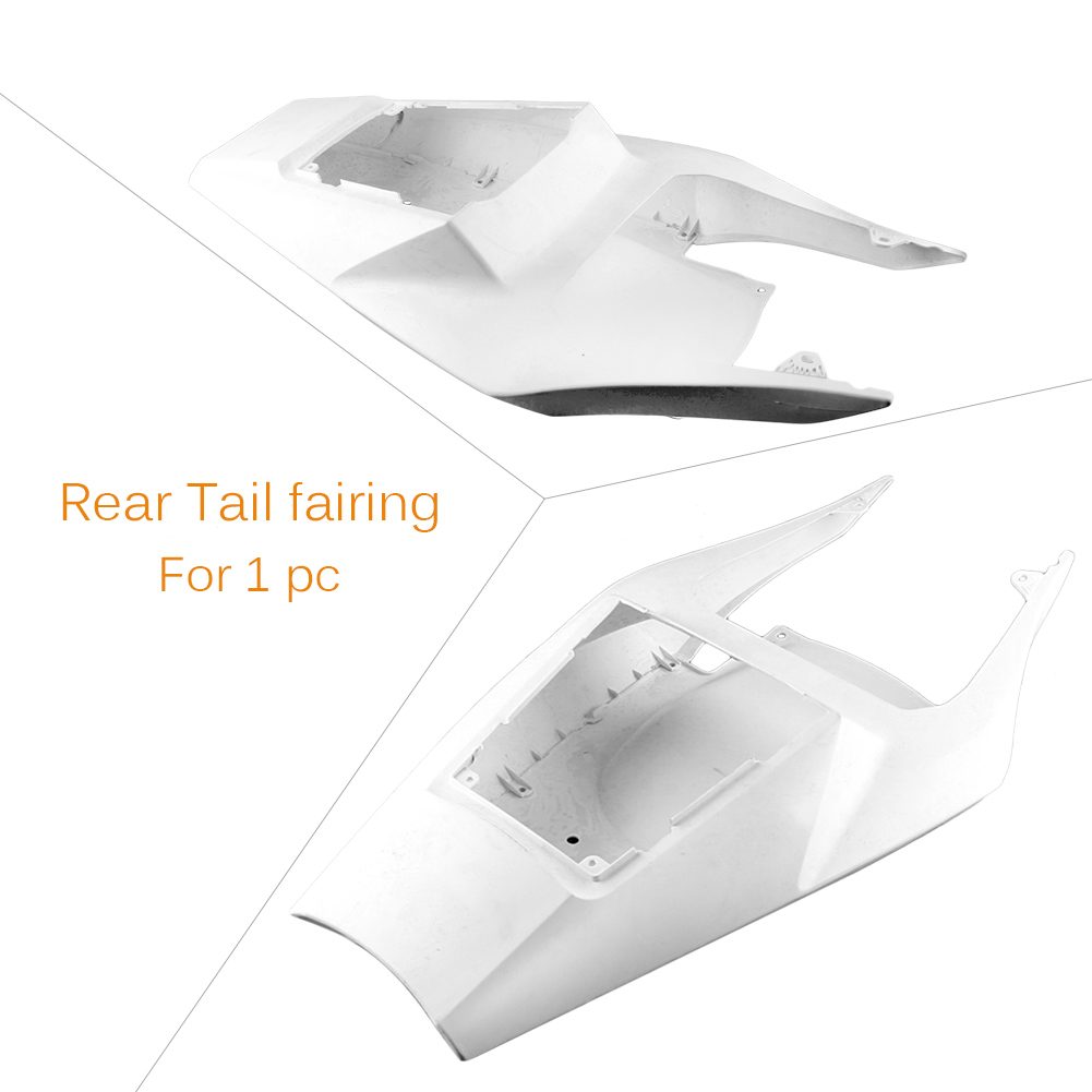 GZYF ABS Plastic Unpainted White DIY For <font><b>Yamaha</b></font> YZF <font><b>R1</b></font> 2002 <font><b>2003</b></font> Tail Rear <font><b>Fairing</b></font> Cover Bodykits image