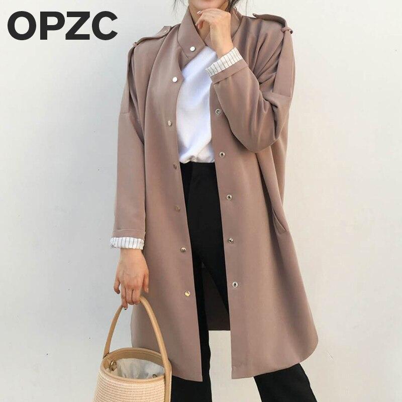 2017 Womens warm winter coat New fashion Korean women's cool was thin in the long section of knee-length women's windbreaker