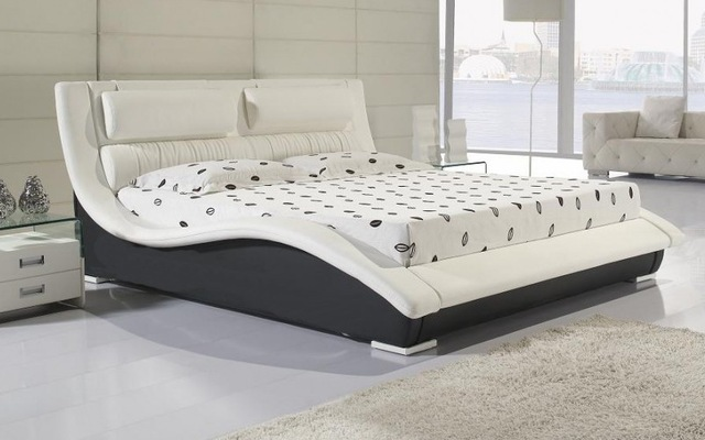 Designer Modern Real Genuine Leather Bed / Soft Bed/double Bed King/queen  Size