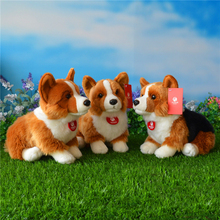 Free Shipping 25CM Welsh Corgi Pembroke Plush Toys Simulation Corgis Stuffed Toy Puppy Dog Dolls Gifts For Kids