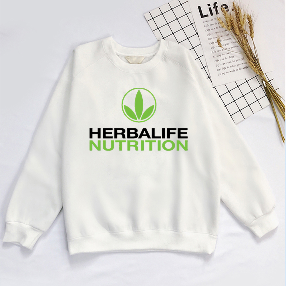 Herbalife Sweatershirt Nutrition Printed Men Women Green Logo Graphic Hoodie
