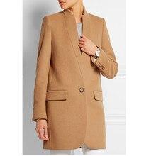 Шерстяное пальто верблюжьего цвета, женское короткое Теплое повседневное пальто на одной пуговице, черный, красный, темно-синий, невый, высокое качество, зима, новинка