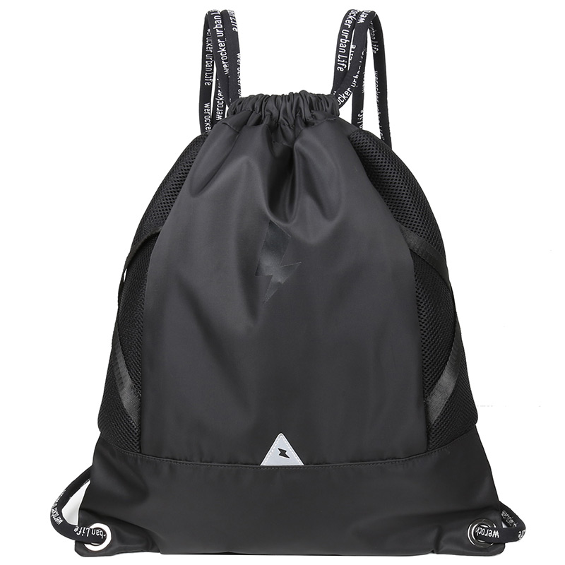 Likros Men Fitness Backpack Basketball Bag Outdoor Easy And Light Rope Bag Female Bag Pocket Rope Drawstring Bag LK725