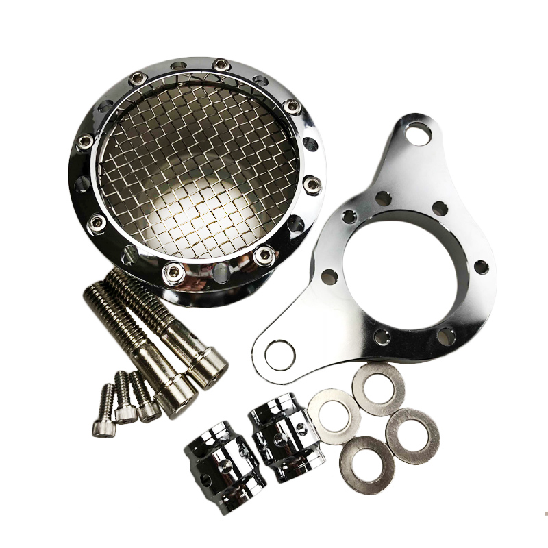 Moto Chrome Velocity Stack Air Filter Cleaner di Aspirazione di Alluminio di CNC Per-UP Harley Sportster XL 1200 883 48Moto Chrome Velocity Stack Air Filter Cleaner di Aspirazione di Alluminio di CNC Per-UP Harley Sportster XL 1200 883 48