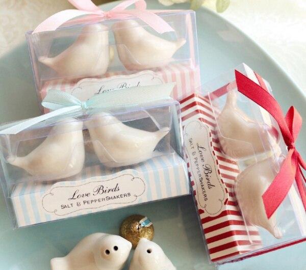 48pcs 24sets Lot Christmas Favors Latest Style Love Birds Salt And Pepper Shaker Wedding