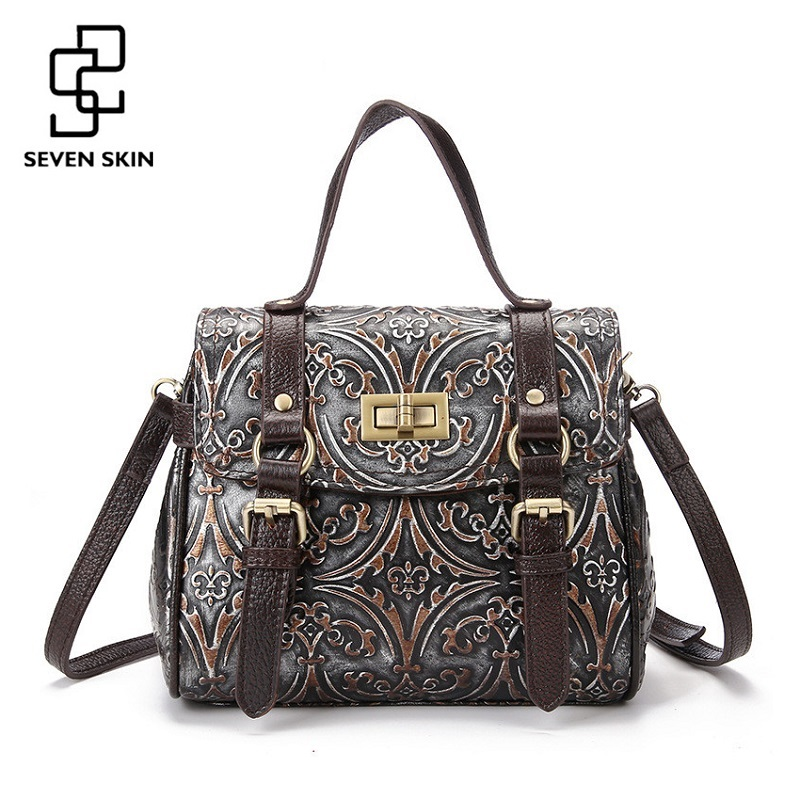 Luxury Handbags Women Bags Designer Famous Brand Messenger Shoulder Bags Ladies Floral Print Fashion Genuine Leather Bags Small famous messenger bags for women fashion crossbody bags brand designer women shoulder bags bolosa