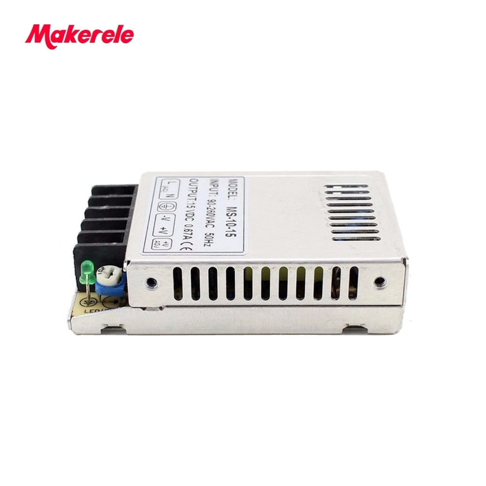 Free shipping 10w micro mini size switching power supply ultrathin compact for led 110V <font><b>220v</b></font> AC <font><b>to</b></font> 5V 12V <font><b>15V</b></font> 24v 48VDC image